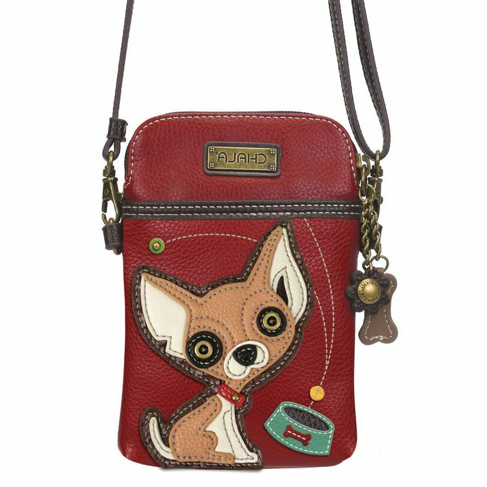 Chala Crossbody Bag Dog Convertible Strap Red