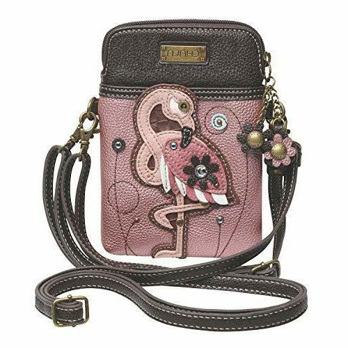 cell phone crossbody bag flamingo convertible strap
