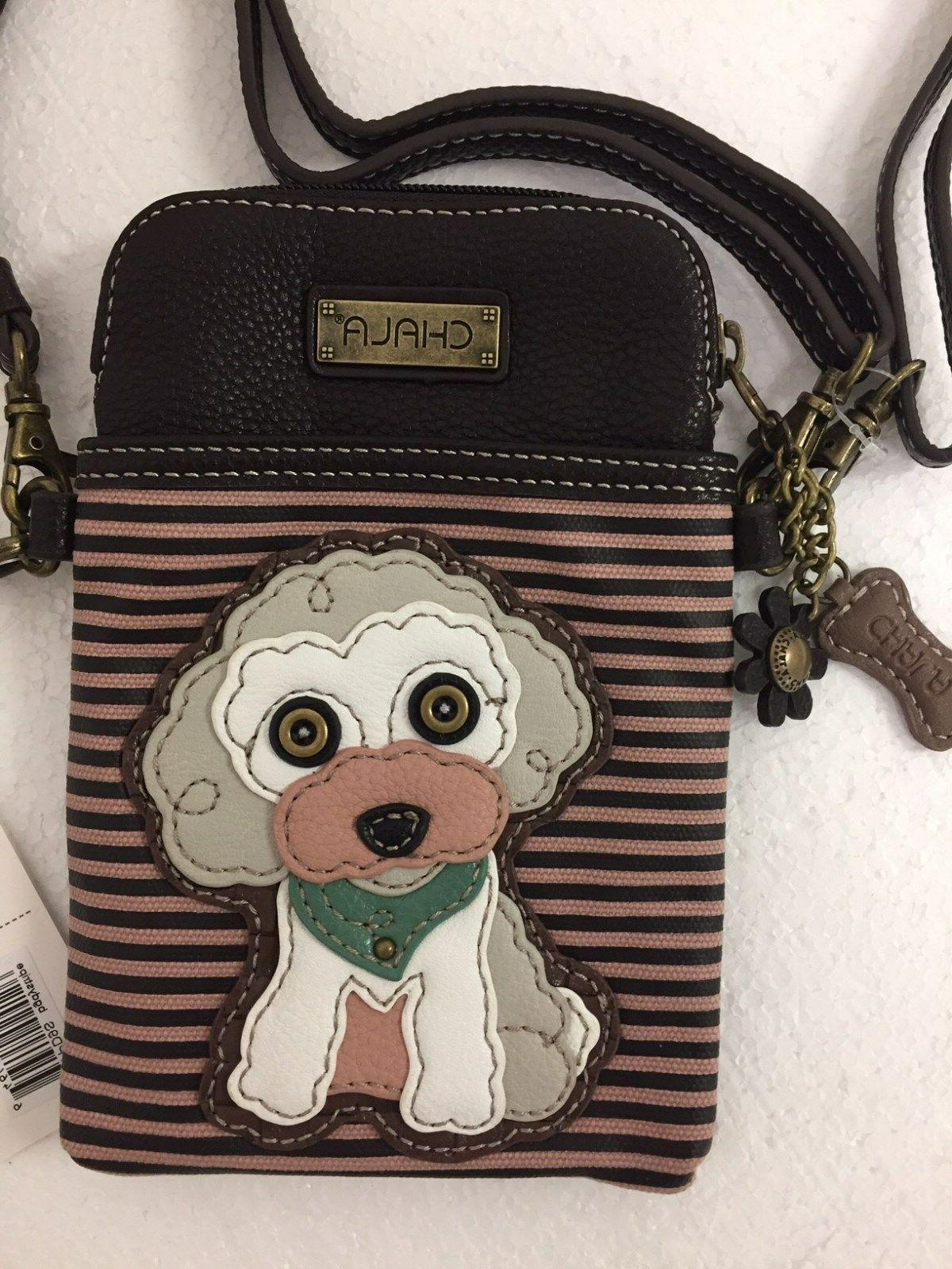 cell phone crossbody bag poodle dog convertible