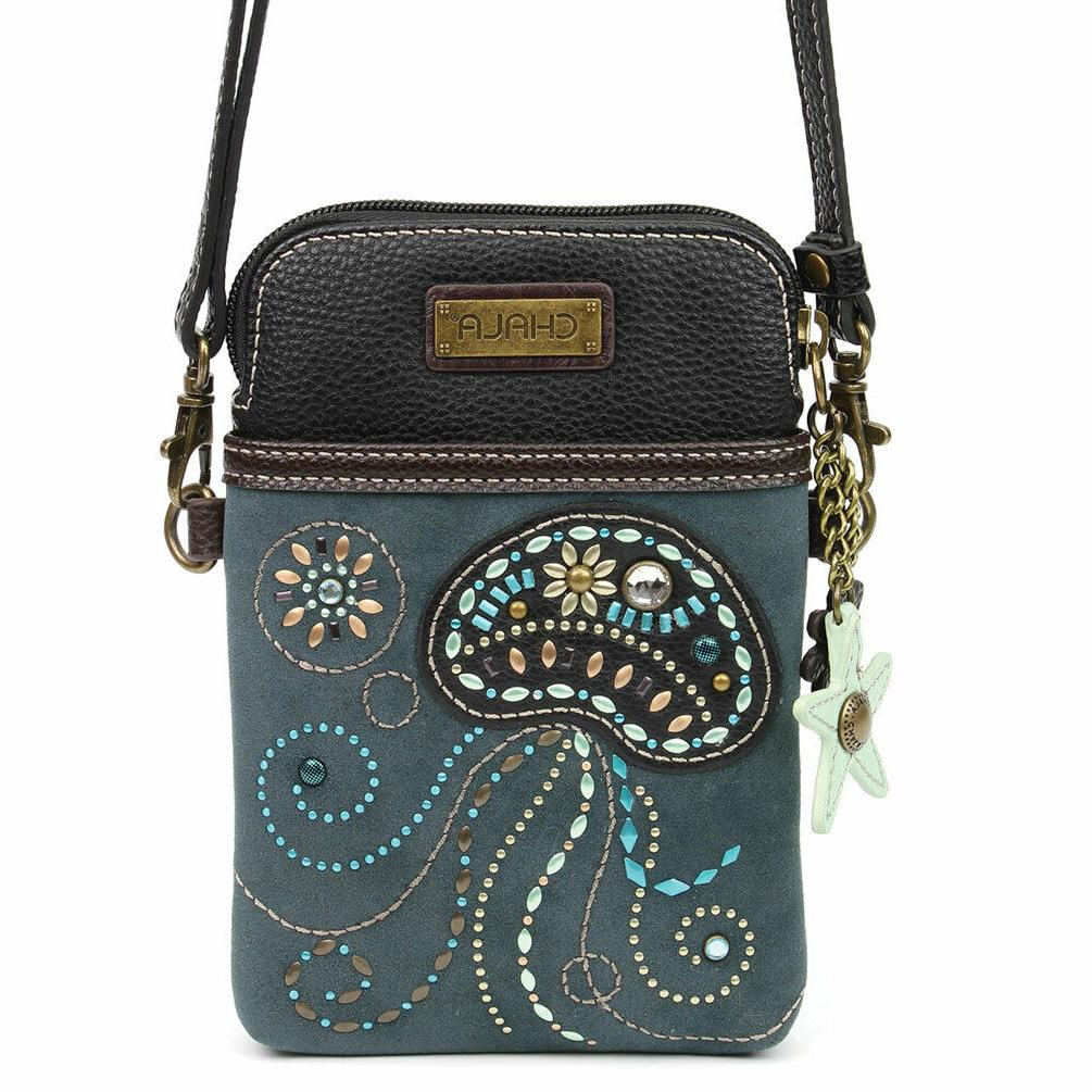 CHALA Dazzling Crossbody Cell Phone Purse with adjustable st