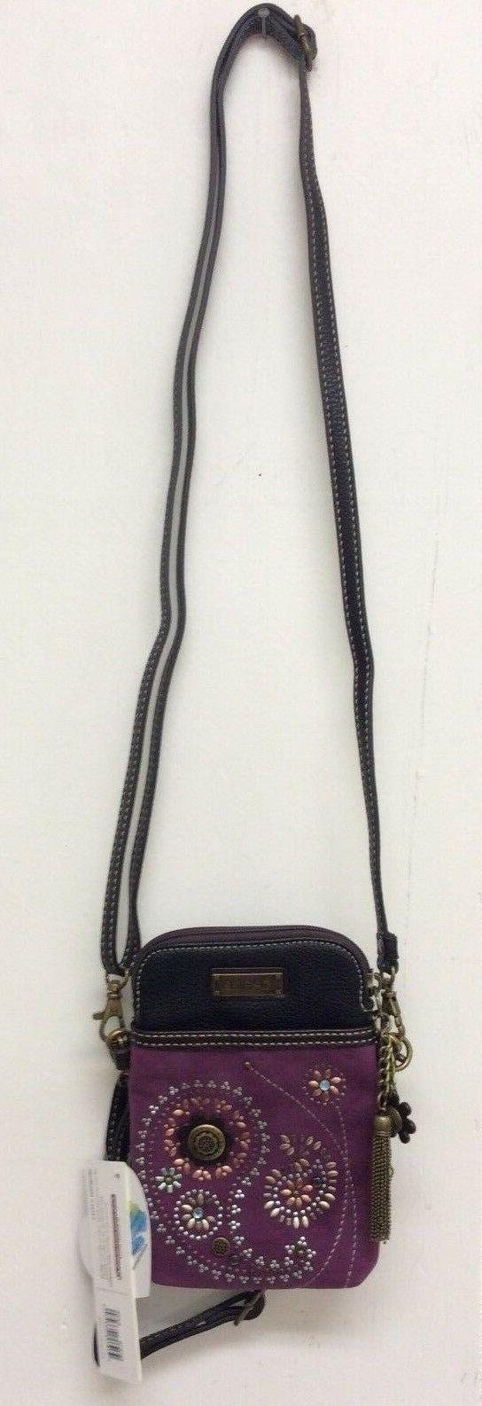 Chala Dazzled Paisley Cell Phone Convertible Purple New