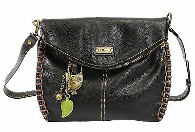 charming crossbody bag with flap top cross