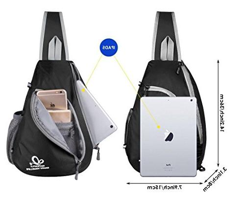 WATERFLY Crossbody Triangle for Hiking Daypacks for Women Lady Girl