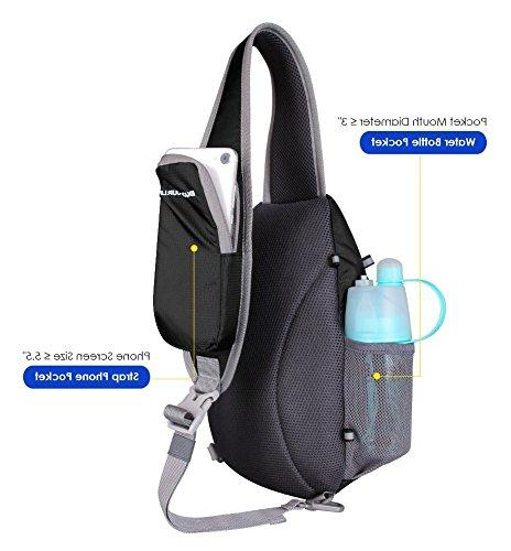 WATERFLY Chest Sling Backpacks Bags Fashion Cute Crossbody Triangle for Daypacks for Women Lady Girl Teens