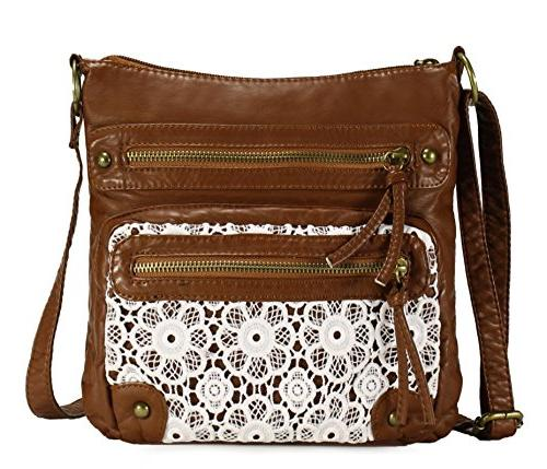 chic lace style crossbody bag h191204 brown