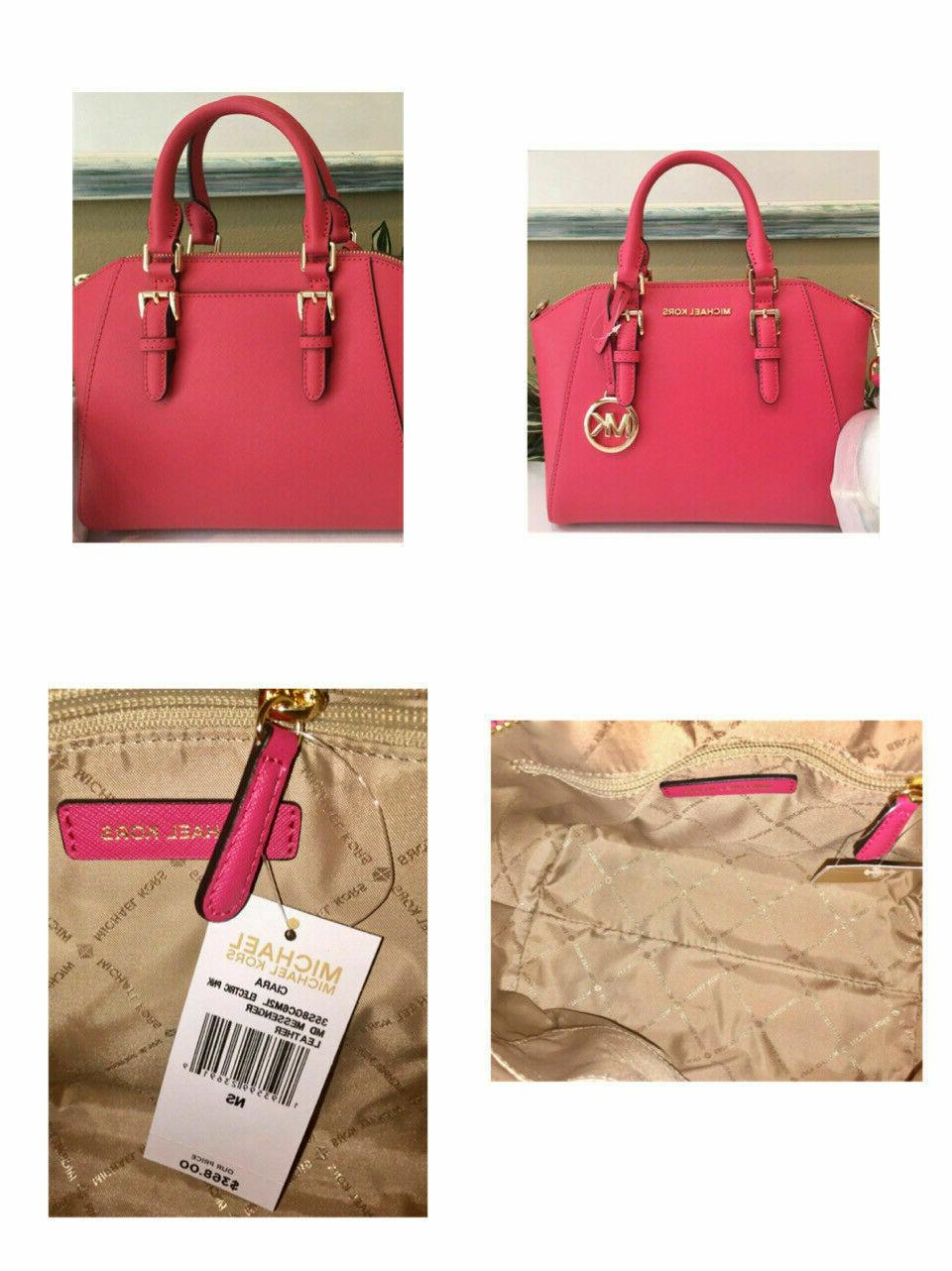 Michael Pink Messenger Satchel Bag