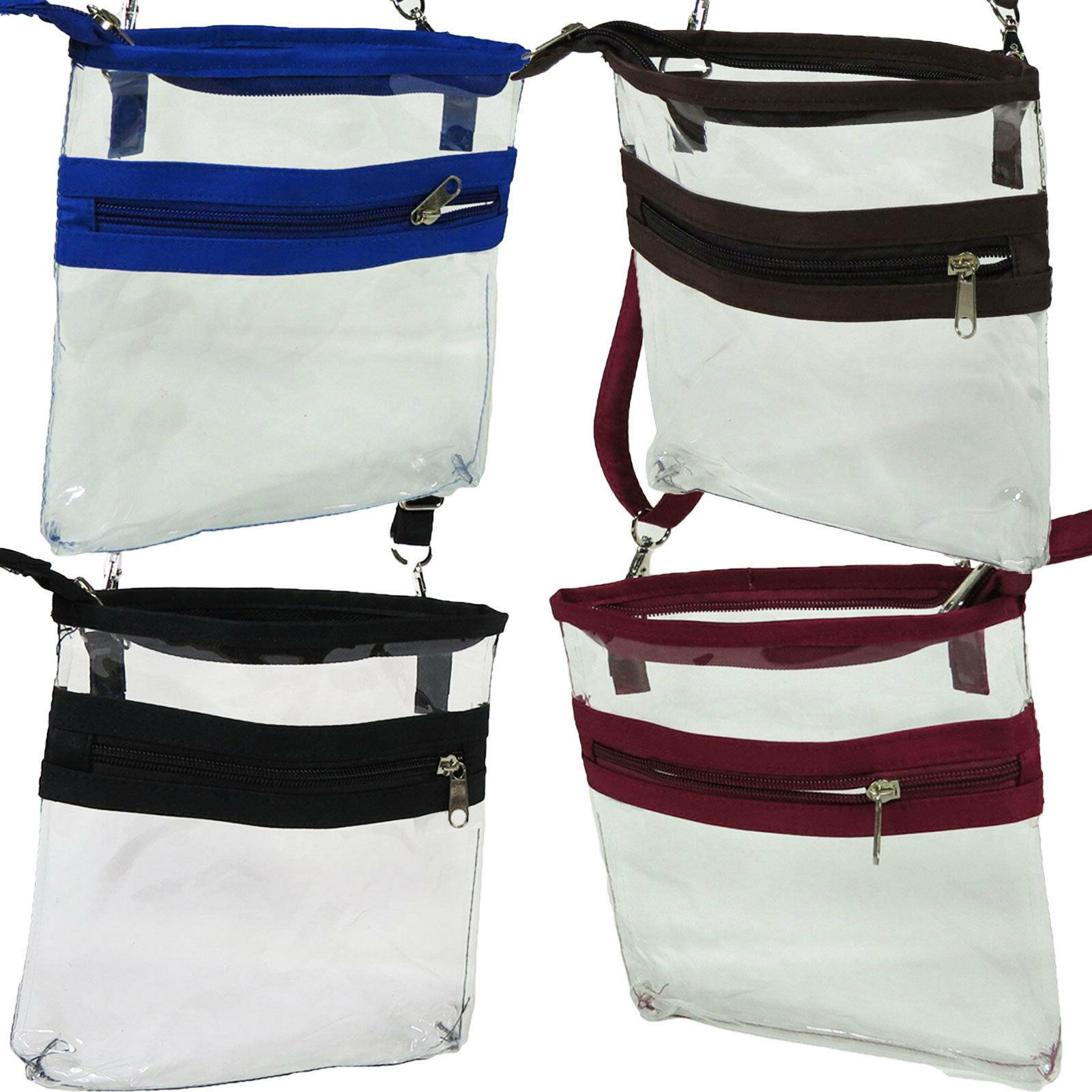 clear crossbody shoulder bag event stadium approved