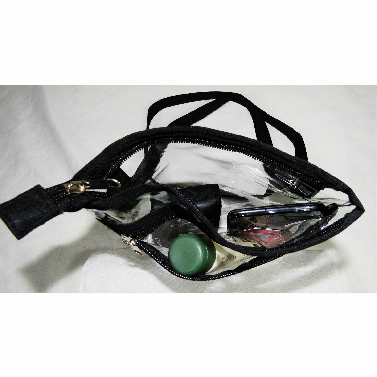 Clear Game Stadium Transparent PVC Purse Tote
