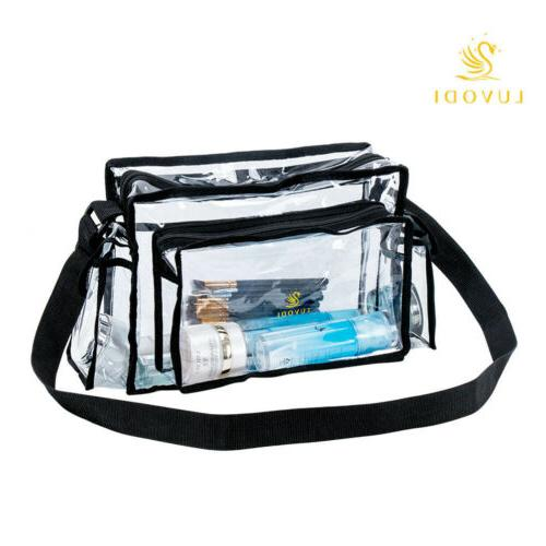 Medium Clear Plastic Tote Bag Women Transparent Handbag Cros