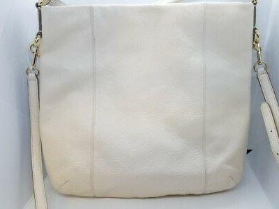 Coach F34511 Isabelle Leather Crossbody Bag White