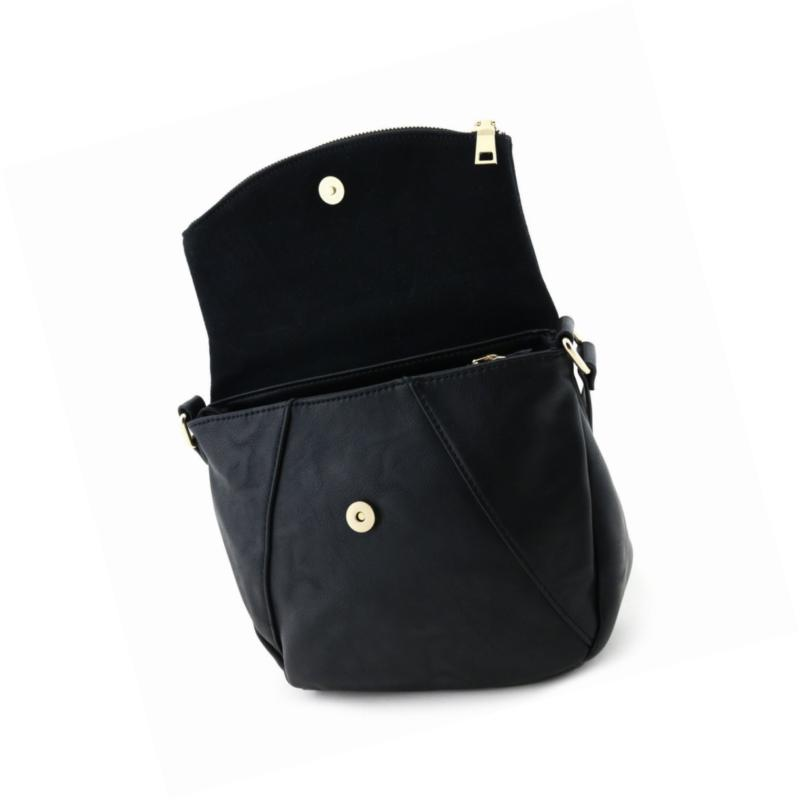 Faux Leather Crossbody Bag with