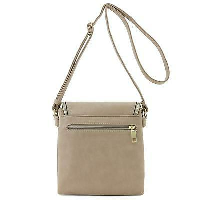 Flap Top Double Crossbody Bagwith