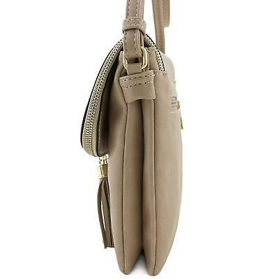 Flap Double Compartment Crossbody Bagwith