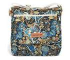 Floral Canvas Messenger Bag Cross Body  travel Purse for