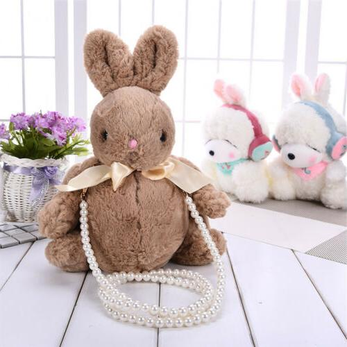 Fluffy Plush Girls Women Bunny Rabbit Shoulder Bag Crossbody