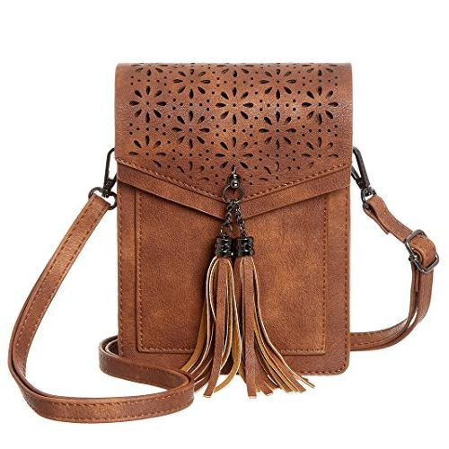 fringe thicher pocket cell phone purse wallet