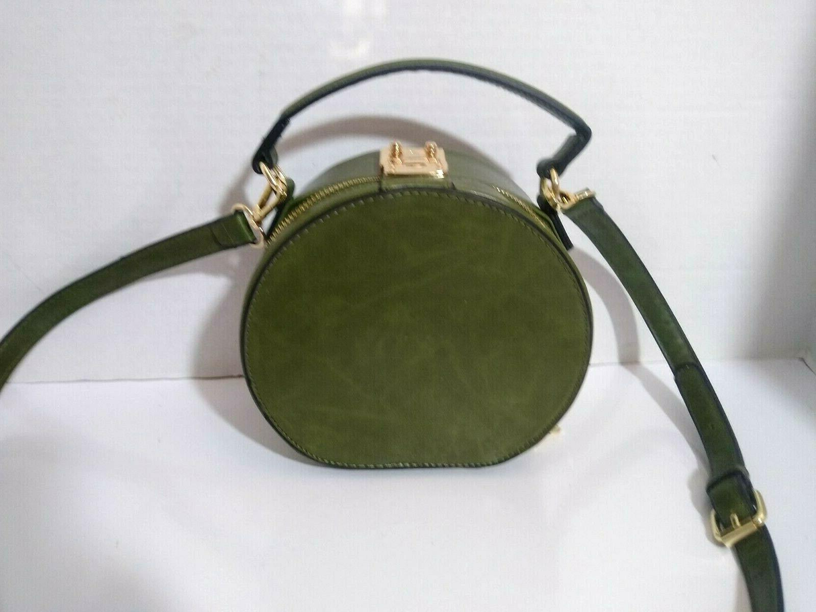 ISABELLE Green Round Crossbody Bag Adjustable