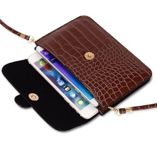 Women Leather Crossbody Bag Cell Phone Purse Clutch For iPho