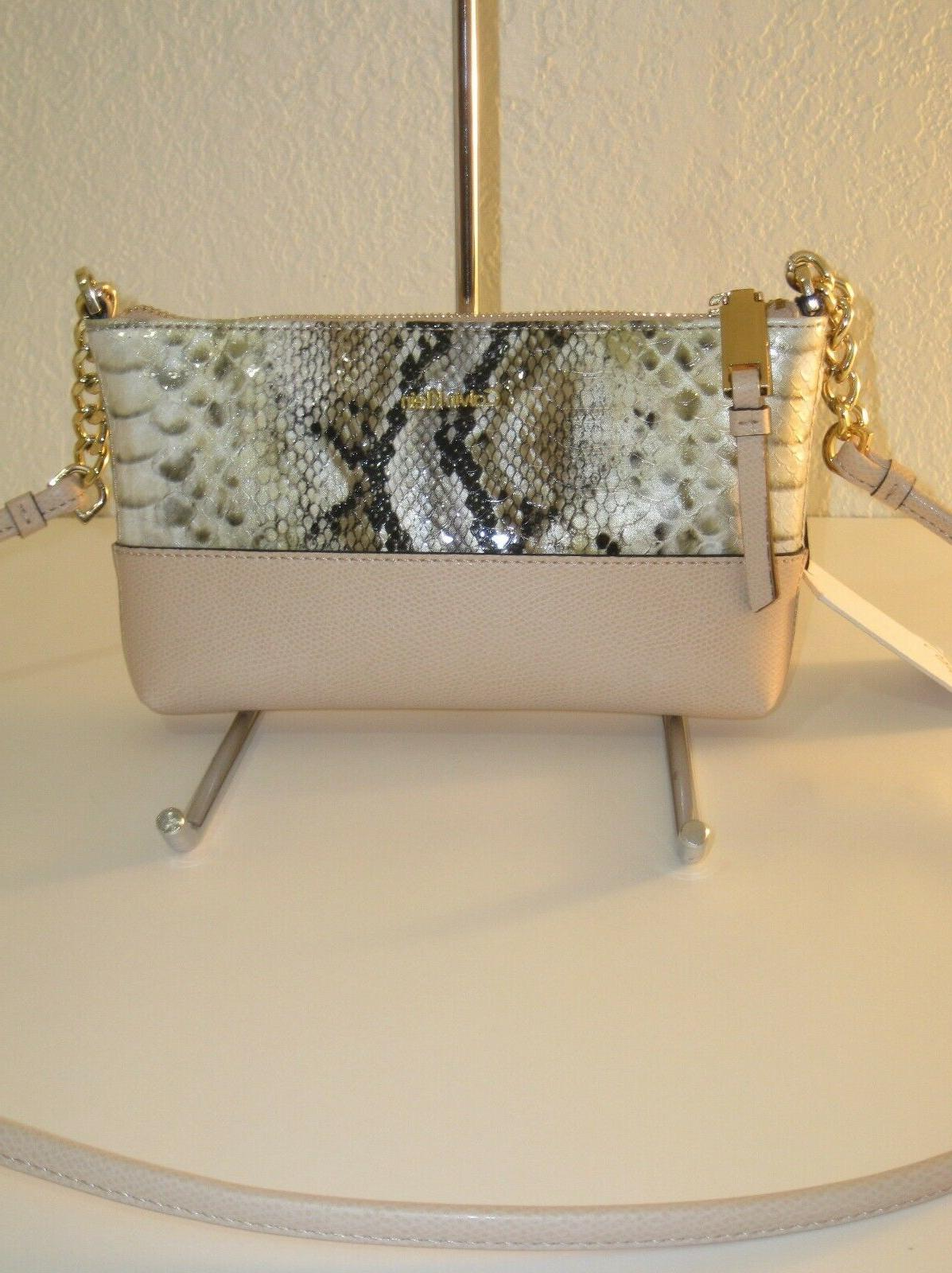 hayden natural python embossed leather small crossbody