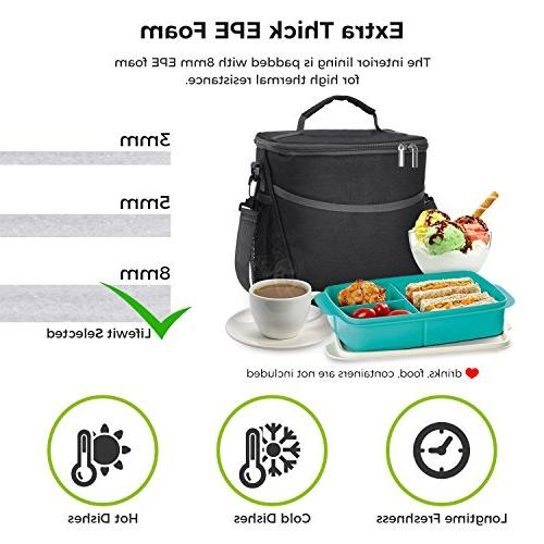 Lifewit Lunch for Adults Men Cooler Thermal Bag for Work/School/Picnic,