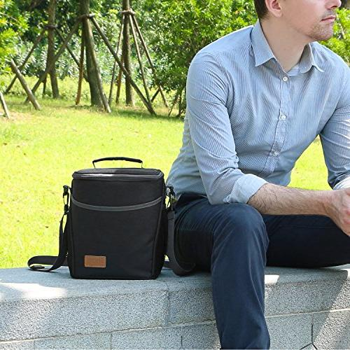 Lifewit Insulated Lunch Lunch for Men Women, 9L Cooler Thermal Bag for Work/School/Picnic, Black