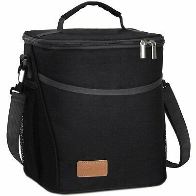 Lifewit Insulated Lunch Men Cooler Bag, Water-Resistant Thermal Work/School/Picnic, Black