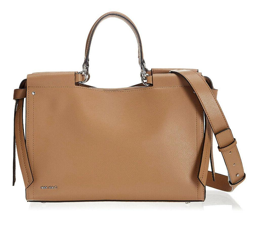 l callie buf leather tote