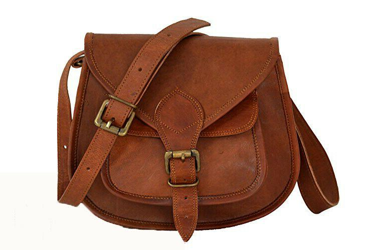 Mini 9 Inch Leather Crossbody Messenger Bag Women Satchel Ha