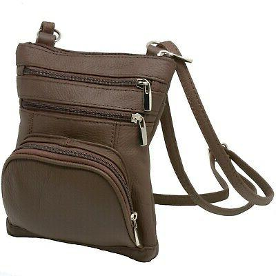 Leather Shoulder Bag Handbag Purse Cross Body Organizer Wall