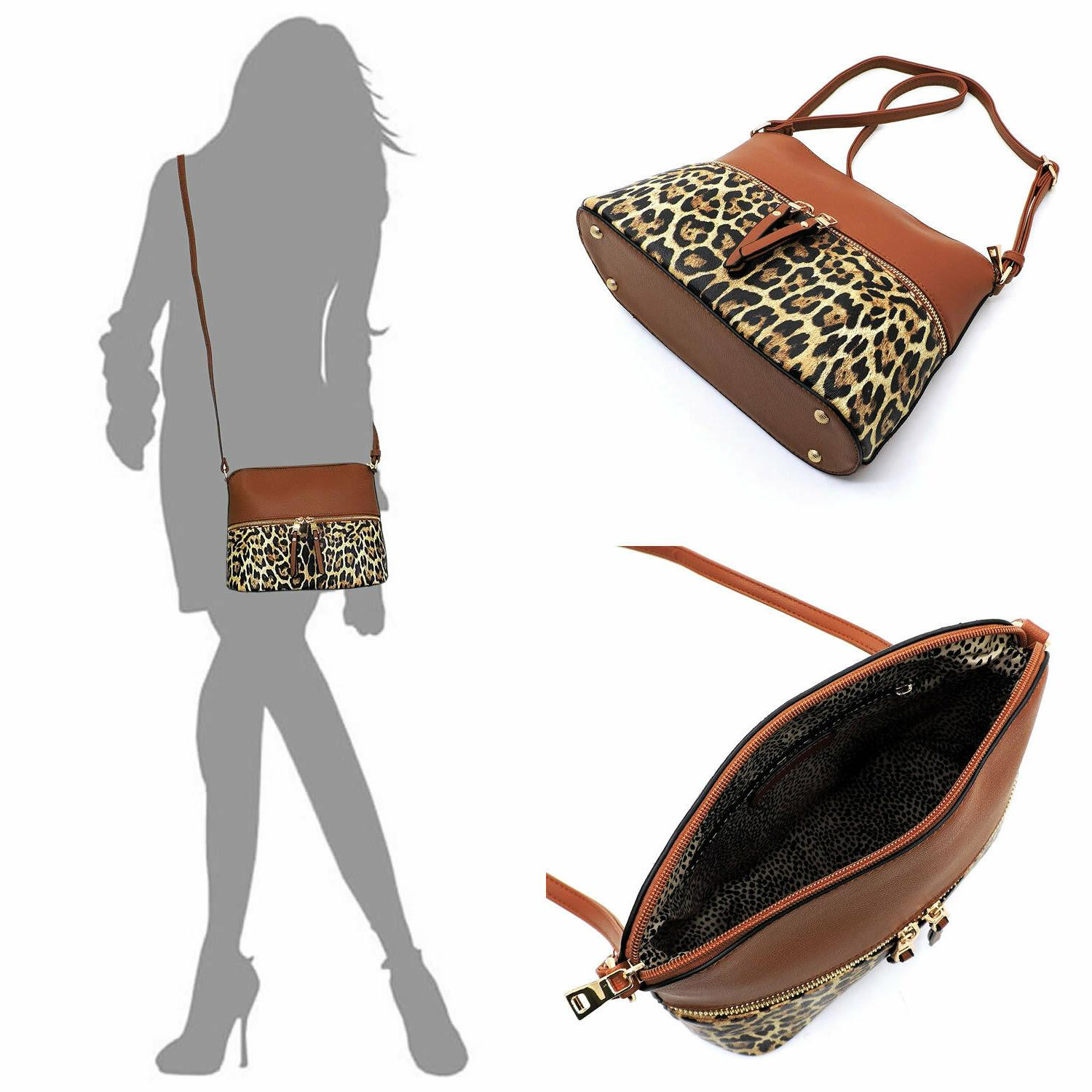 Leopard Zipper Dome Bag Leopard Purse