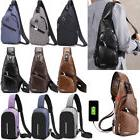 men s shoulder bag sling chest pack