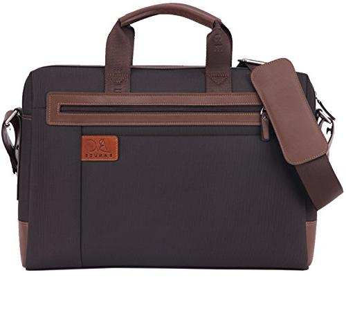 men waterproof pu leather briefcase