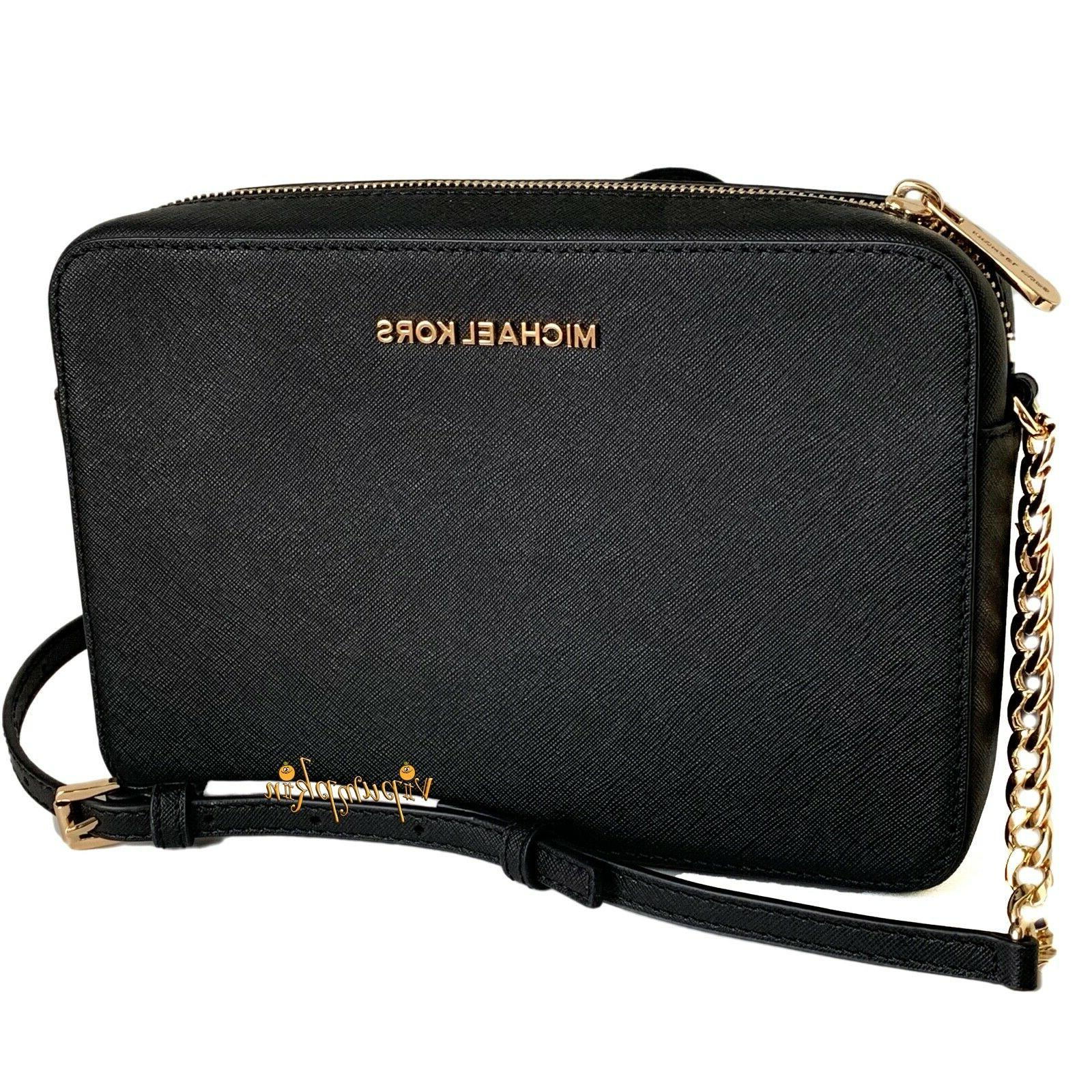 Michael Item Crossbody Bag Saffiano Leather Black or Set