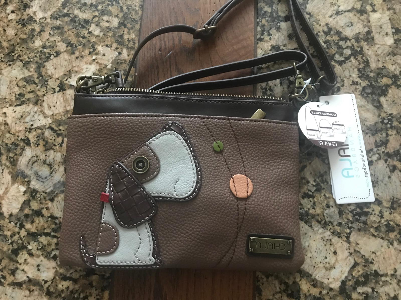 mini crossbody dog brown 108301