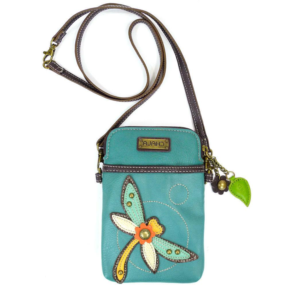 NEW CHALA DRAGONFLY CELL PHONE CROSSBODY PURSE ADJUSTABLE ST