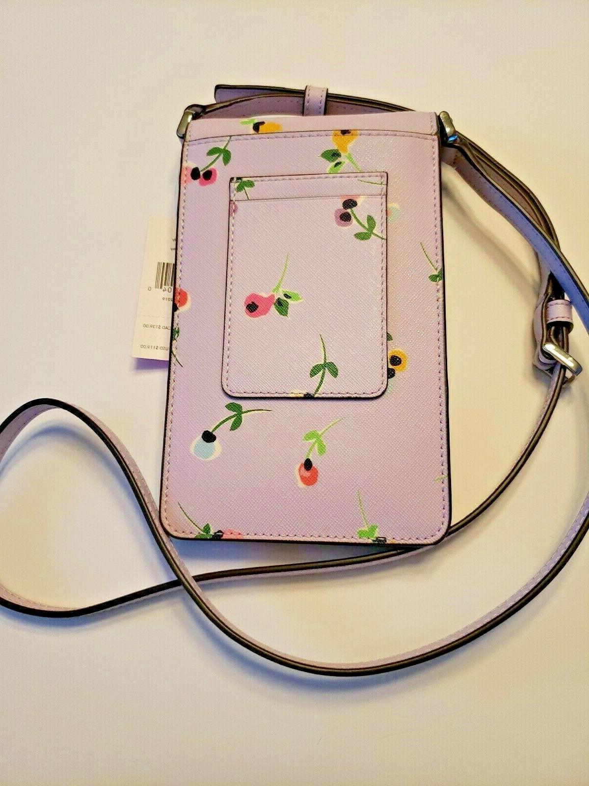 NEW SPADE North South Phone Crossbody Bag Purse Cameron Ditsy