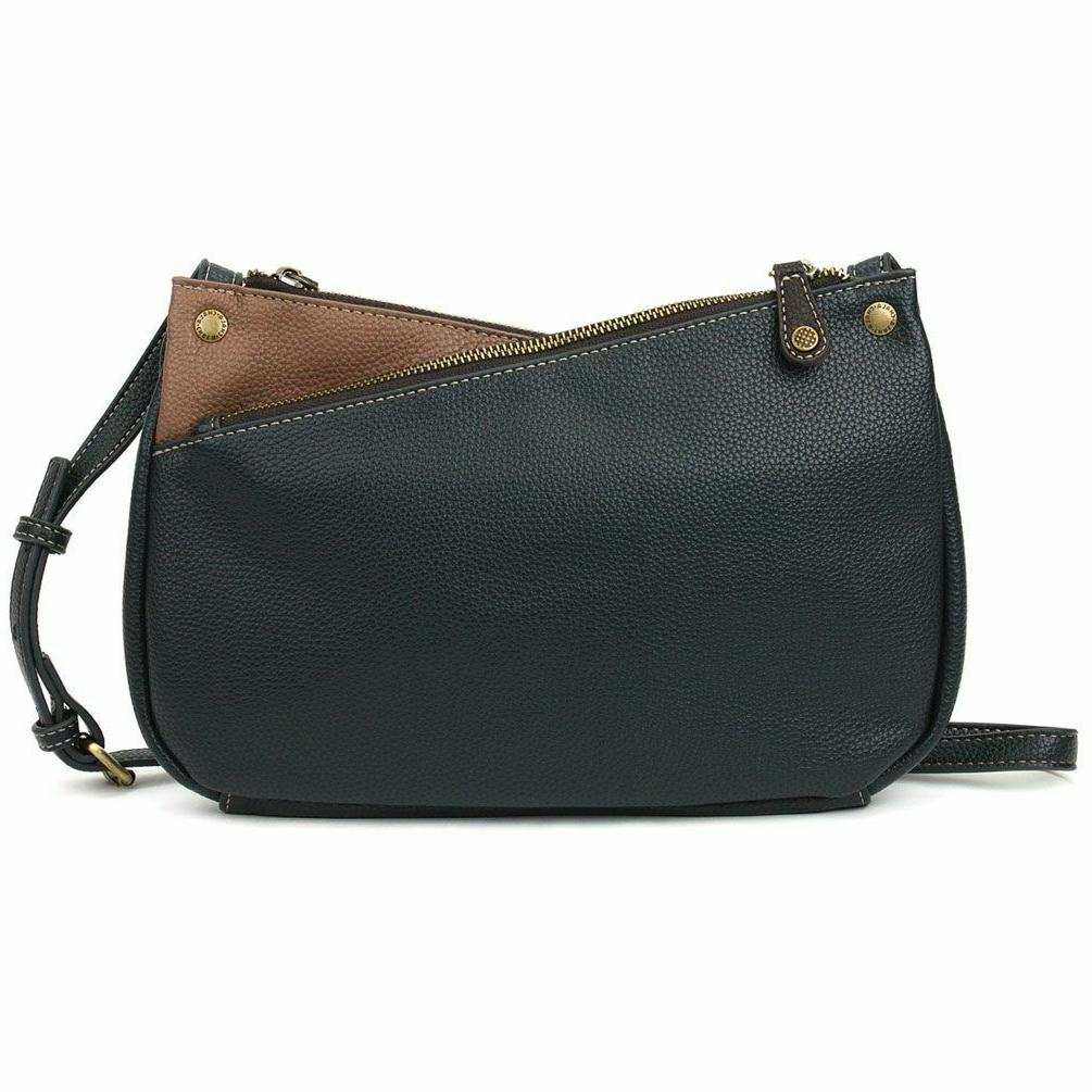 NEW CHALA NAVY TAN TOTE LEATHER