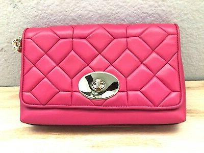 Coach New York Womens Canyon Quilt 37488 Pink Fuscia Calf Le
