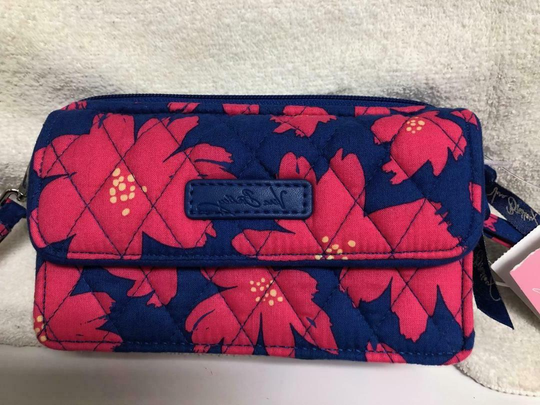 NWT VERA BRADLEY ALL IN ONE CROSSBODY  Art Poppies Wallet Ba