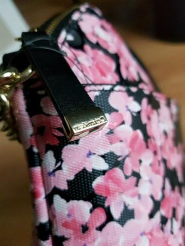 NWT Black Floral Crossbody Purse Bag