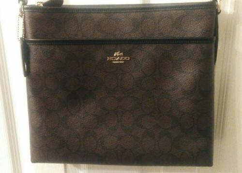nwt authentic signature crossbody file bag