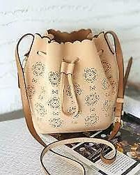 NWT Coach Bucket Bag 18 Cut Out Tea Rose F25193 Marine Sued