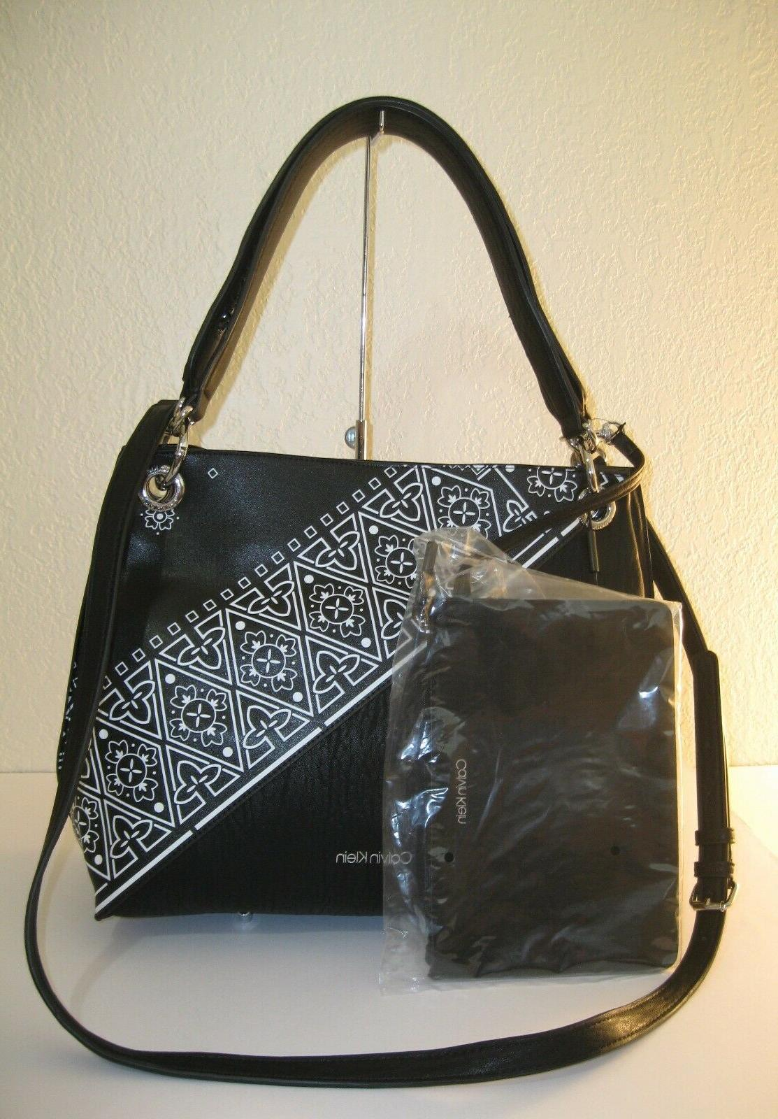 nwt double strap hobo black white shoulder
