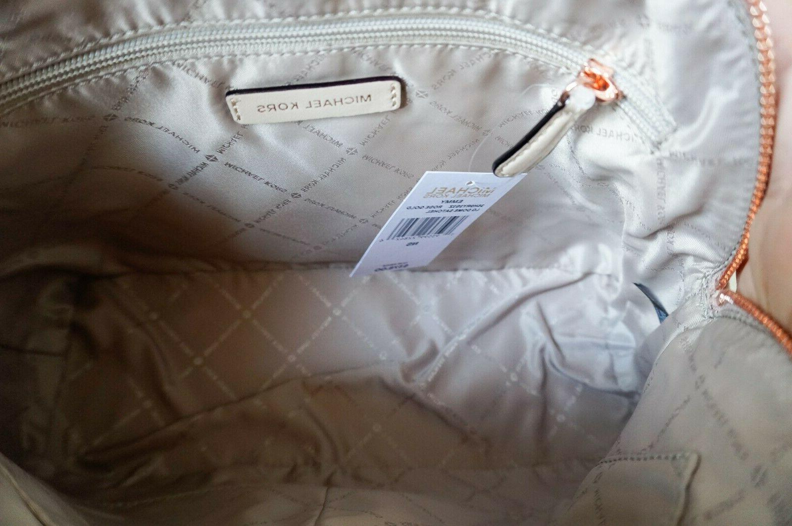 NWT Michael Emmy Dome Large Satchel Bag Gold