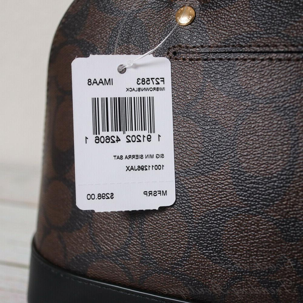NWT Coach Sierra Satchel in Canvas Brown Black