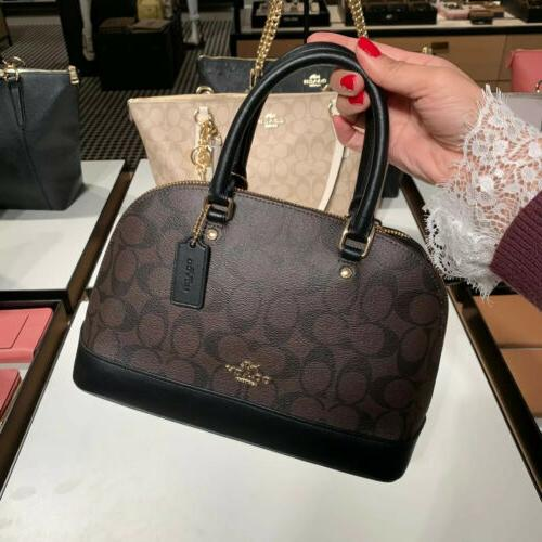 nwt f27583 mini sierra satchel in signature