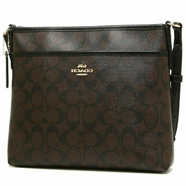 NWT Coach F29210 Signature Coated Canvas Crossbody File Bag