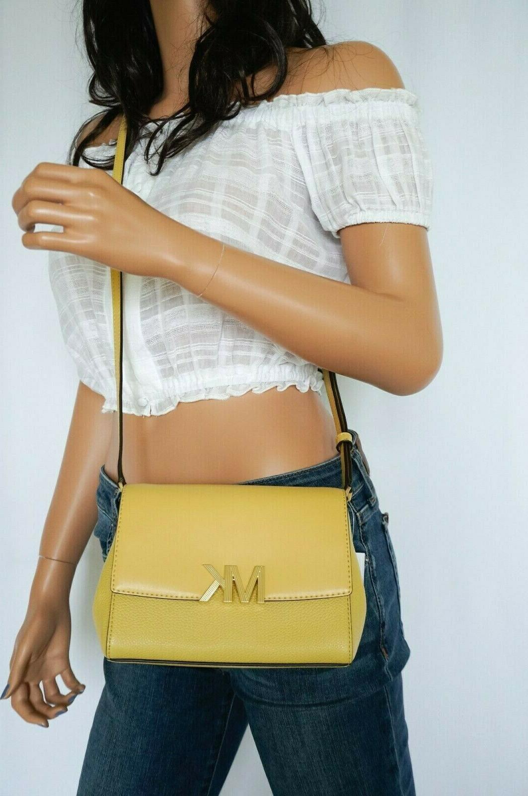 nwt montgomery small leather crossbody bag yellow
