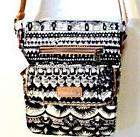 NWT!! sakroots Small Flap Messenger Bag Black and White One
