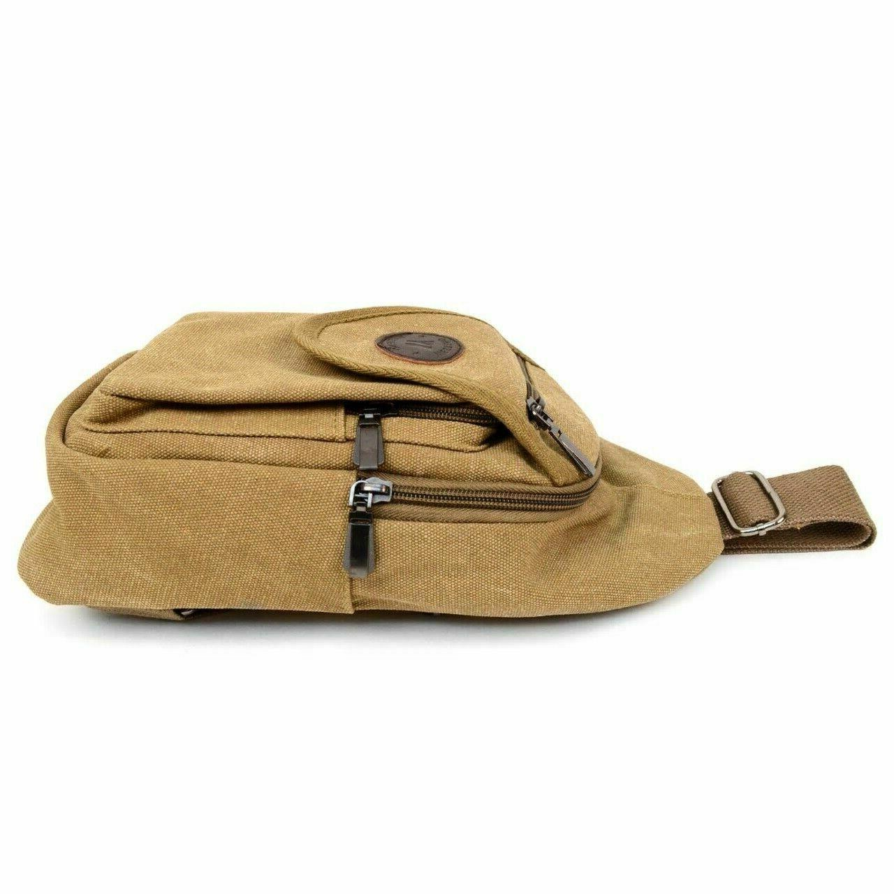 NWT Canvas Sling Bag Backpack Purse